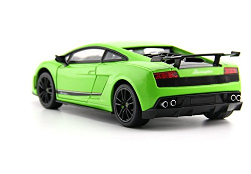 Tourwin Toy car 1:18 Lamborghini Gallardo simulation Green Static Car Model Collection Decoration Alloy children's toys doors can open