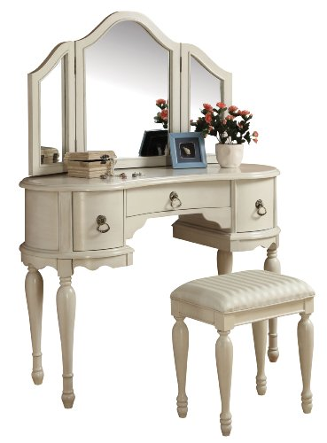 Acme 90024 2-Piece Trini Vanity Set, White