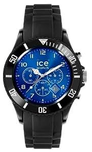 Ice-Watch Herren - Armbanduhr Chrono Analog Quarz Silikon IB.CH.BBE.B.S.11