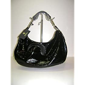 Versace Handbags Black Patent (Shiny) Leather BFB426