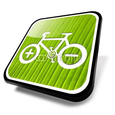 Wallmonkeys Peel and Stick Wall Decals - E-bike Green - 36