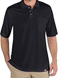 Dickies LS404BK Industrial Polo Shirt (Black;5X-Large)