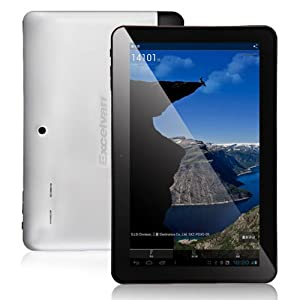 Excelvan CPU Samsung Exynos4412 IPS Quad Core, up to 1.6GHz, 2GB 16GB Bluetooth Dual Camera MID 10.1 Inch Tablet PC by Excelvan