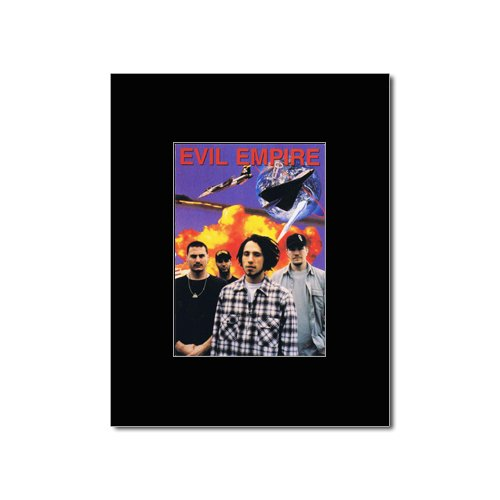 RAGE AGAINST THE MACHINE - Evil Empire Matted Mini Poster - 15x10cm Music Ad World