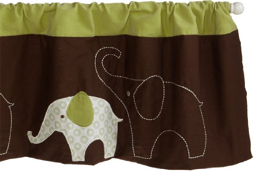 Carter's Green Elephant Window Valance, 1-Pack