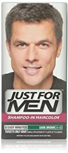 Just for Men Shampoo In Hair Color, Dark Brown H-45, 1 application, (Pack of 3)