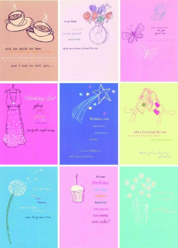 Designer Pack of General Birthday Greeting Cards