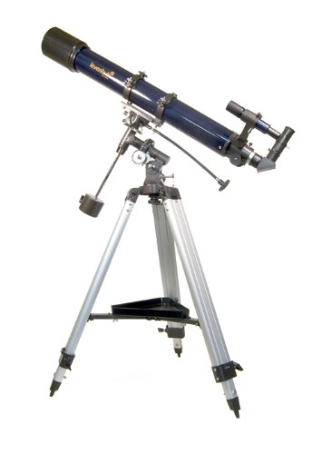 Levenhuk Strike 900 Pro Telescope Achromatic Refractor 90 Mm Equatorial Mount Accessory Kit