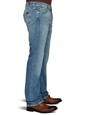 7 For All Mankind Standard 4 Straight Men's Jeans Venice Light W32 INxL34 IN - SMNJ870VL