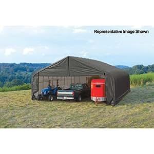 Shelterlogic peak style 30ft w garage storage for Outdoor storage shelter