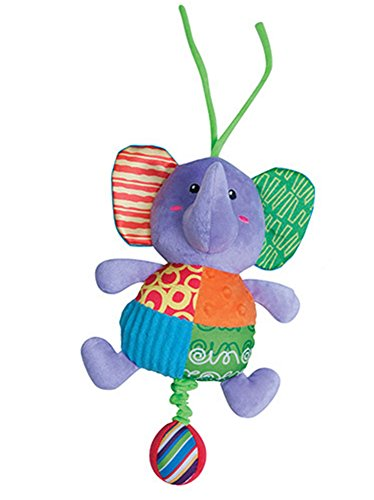 Pull String Musical Plush Elephant Toy Stuffed Animal for Baby - 1