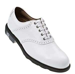 FootJoy Icon Saddle Golf Shoes White 7 Wide 52005
