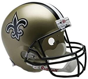 NFL New Orleans Saints Deluxe Replica Football Helmet by Riddell