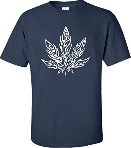 Small-Navy-Blue-Adult-Giant-Psychedelic-Pot-Leaf-Marijuana-420-T-Shirt
