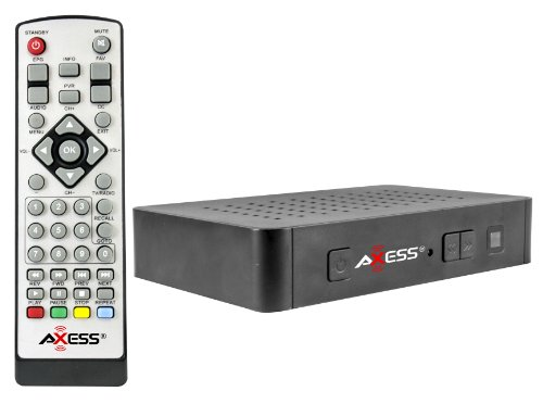 Axess-Cb-3001 Atsc Digital Tv Converter Box W/ Media Player & Usb Output Recording Function / Hdmi Output / Rf-Antenna Input With Remote Controle