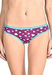 Lenora Printed Bikini Brief Hot (X-Large, Purple)
