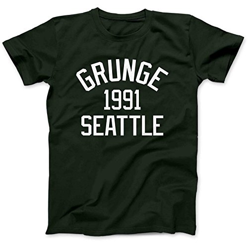 Grunge Music Seattle 1991 T-Shirt 100% Premium Cotton