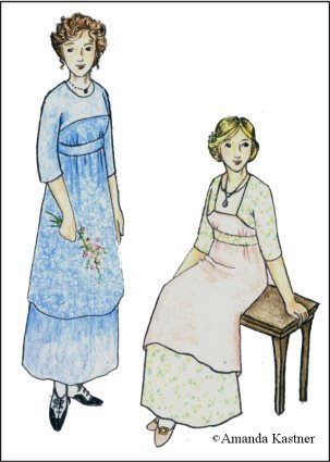 Titanic Edwardian Sewing Patterns- Dresses, Blouses, Corsets, Costumes 1911 -1912 Kimono Style Dress Pattern                               $19.95 AT vintagedancer.com