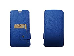 Atv Flip Pouch Case Cover For Gionee Marathon M5 Plus (Royal Blue)