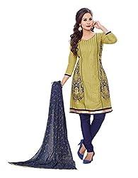 RK Fashion Womens Cotton Un-Stitched Salwar Suit Dupatta Material ( MITTAL-SANAM-7008-Green-Free Size )
