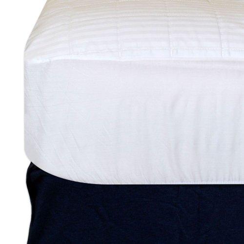 Sateen Cotton Top Waterproof Mattress Pad - King Size front-351637