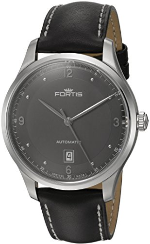 Fortis-Mens-9032111-L01-Tycoon-Date-Analog-Display-Automatic-Self-Wind-Black-Watch