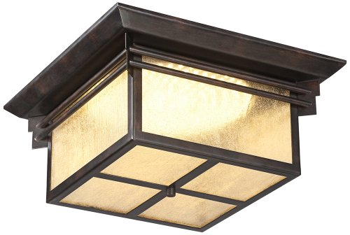 """Hickory Point 15"""" Wide Led Outdoor Ceiling Light"""