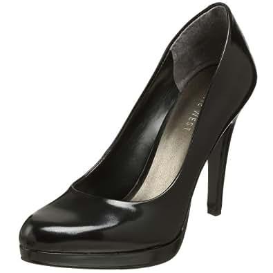 Nine West Women's Rocha Pump,Black Leather,5.5 M US