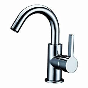 Chrome Finish Solid Brass Bathroom Sink Faucet Amazon