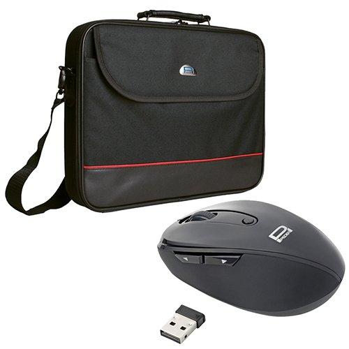Pedea Trendline Notebooktasche bis 43,9 cm (17,3 Zoll) mit schnurlose Maus 2,4 GHz schwarz