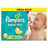 Pampers Baby Dry Size 4+ (9-20kg) Maxi Plus Mega Pack x 80 per pack
