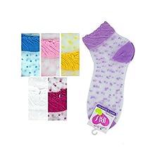 Bulk Buys Mid Cut Dots 6-8 Socks