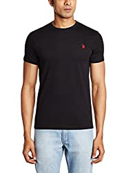U.S. Polo Assn. Men's Crew Neck Cotton T-Shirt (I030-002-P1-M Black)