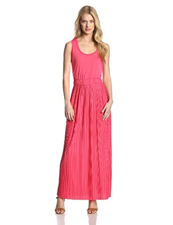 Calvin Klein Women's Pleated Maxi Dress, Watermelon, Small