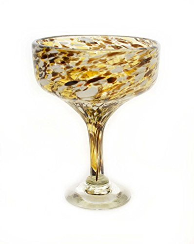 set-of-4-chocolate-white-spots-confetti-margarita-glasses-16-ounces-recycled-glass-by-laredo-import