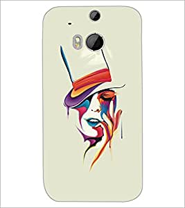 HTC ONE M8 PAINTED GIRL Designer Back Cover Case By PRINTSWAG