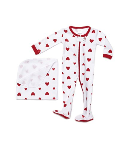 """Leveret Footed """"Hearts"""" Doll Pajama With Bonus Blanket Fits Most 18 Inch Dolls front-894957"""
