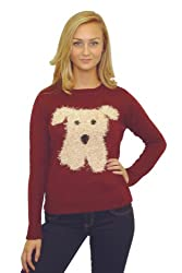 Pilot Maisie Dog Motif Jumper in Red