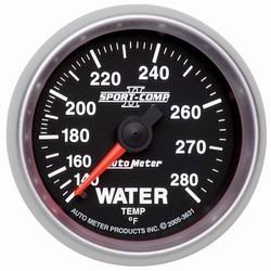 Auto Meter 3631 Sport Comp II Mechanical Water Temperature Gauge