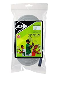 Click here to buy Dunlop Sports Gecko Tac Overgrip 12 Grip Pack (White) by Dunlop Sports.