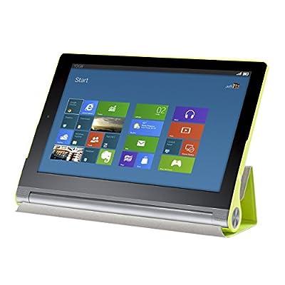 kwmobile 3in1 Set: Smart Cover Case für Lenovo Yoga Tablet 2 8 830 mit Ständer - Schmale Ultra Slim Hülle aus Kunstleder in Grün + Folie, kristallklar + Stylus, Schwarz