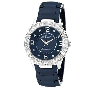 Anne Klein Ladies Crystal Bezel Ceramic  Watch Blue 10/9929BLBL