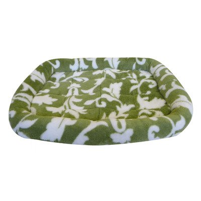 Precision Pet 1000 Bumper Bed For Pets, 18 By 14-Inch, Green Spa Print front-1011475