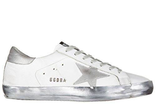 Golden Goose scarpe sneakers uomo in pelle nuove superstar bianco EU 45 G29MS590 E36