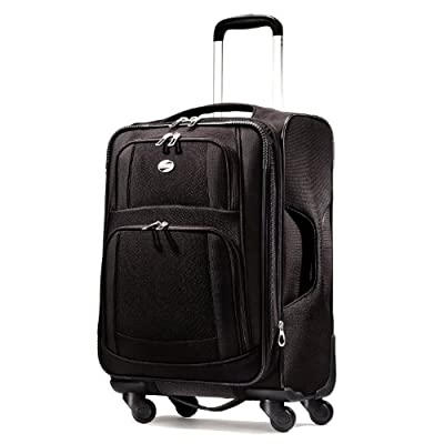 American Tourister Luggage Ilite Supreme 21 Inch Spinner Suitcase, Black, 21 Inch