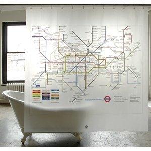 Tube Map Shower Curtain