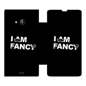 Skintice Designer Flip Cover with Vinyl wrap-around for Nokia Lumia 535 , Design - fancy
