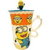 Satyam Kraft Minions Printed Mug With Handle And Lid - Running