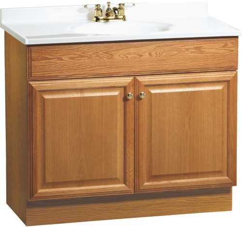 rsi home products c14036a fully assembled oak combo vanity