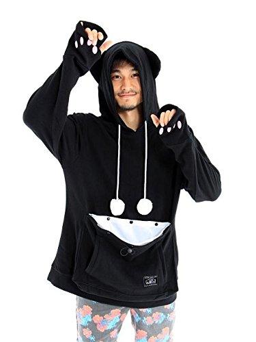 mewgaroo-hoodie-upa-32xl-bk-black-cat-shaped-sweat-with-ears-xl-size-i-1-4-japan-importi-1-4-1-2-